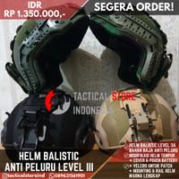 Helm Tactical Level 3A Anti Peluru / Baja / Balistic + Cover Helm