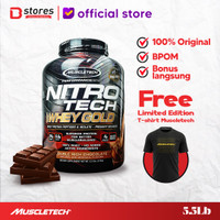 Muscletech Nitrotech Whey Gold 5.5lb Whey Isolate Limited Edition - Chocolate