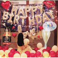 Paket Dekorasi Balon Ulang Tahun / Happy Birthday Silver 08