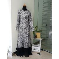 Baju Gamis Sari India Ori Hitam Black ( Syari / Dress / Long Dress ) - XXS