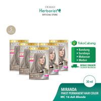 Miranda Hair Color (Cat Rambut Permanen) MC16 Ash Blonde 30ml - 5 pcs