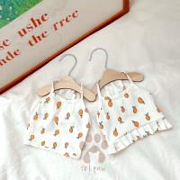 Petpaw Baju Anjing Orange Tank Top and Dress Katun Import Premium