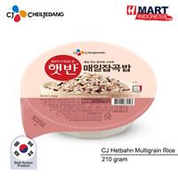 CJ Hetbahn Cooked Multigrain Rice - Nasi Multigrain Instan Korea 210g
