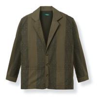 Blazer Motif Duha Muslimwear - Nabeel Blazer Stripes Olive - L
