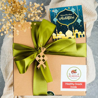 Parsel Ramadan Idul Fitri Cookies Almond Sehat Sajadah Tasbih - Hijau