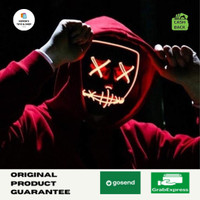 Led mask the purge topeng led pesta rave party wire glow in the dark - Hijau