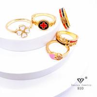 Cincin Wanita Perhiasan Lapis Emas 18k Yaxiya Jewelry 810