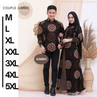 Baju Pasangan Wanita Keluarga Muslimah Gamis Couple Syari Dress Muslim - Kemeja Pendek, M