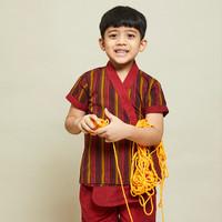 Red Raja Lurik shirt