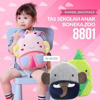 Mairu Tas Sekolah Anak Boneka Karakter Binatang Zoo Edition 8801