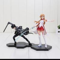 Asuna Kirito SAO Sword art online Fighting pose Version kws Figure