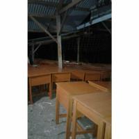 Meja Kursi Tunggal Sekolah SD SMP SMA Kayu Jati Mahoni