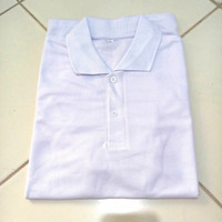 kaos polos murah kaos polo shirt pria wanita baju lacos-wrna putih