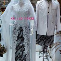 paket baju akad nikah putih lengkap baju pernikahan