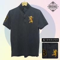 Size M-LD98 Giordano Original POLO SHIRT PRIA KAOS KERAH Cowo Abu Grey