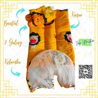 Kasur kelambu lipat kado lahiran murah terbaik matras bayi aneka motif - D lion yellow