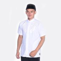 Baju Koko Pria ATLAS Universal Motif V Datar Putih - S