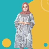 Batik tunik atasan wanita baju lengan panjang model modern batik