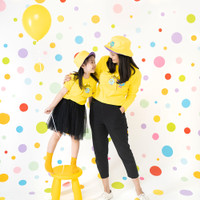 Pop Kidswear Monster Squad Yellow Couple Tee - kaos monster series