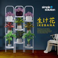 Rak Pot Bunga Susun Tanaman Hias Minimalis Standing Planter   Ikebana - Holy White