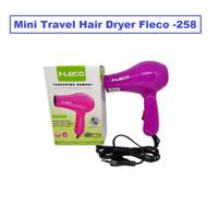 Mini Travel Hair Dryer Fleco 258/ Hairdryer/ Pengering Rambut Lipat