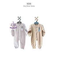 NOVA BG Series Polos Jumper Buka Kaki Baju Kodok Bayi Size 0-3 Bulan
