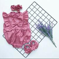 MADELINE JUMPER SET Baju bayi perempuan import