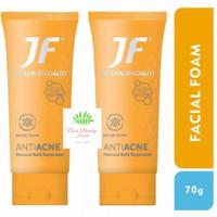 JF Sulfur ANTI ACNE FACIAL FOAM 70gr-TUBE- Merawat Kulit Berjerawat