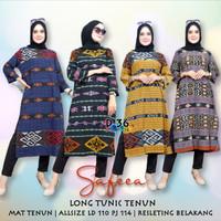 Long Tunik Tenun Baju Batik / Katun /Modern Kasual / Wanita / Murah