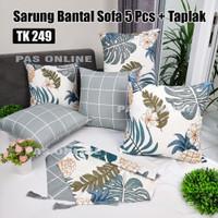 Paket Taplak dan Sarung Bantal Sofa 5 pcs (50 x 50)