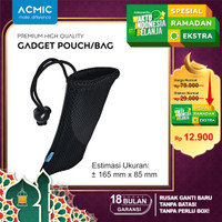 Pouch Jaring Premium / PowerBank Bag / Sarung Power Bank - Hitam