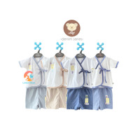 NARY Setelan Baju Bayi Kimono Pendek & Celana Pendek (DENIM SERIES)
