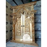 pintu gebyok gold - pintu ukir jati - pintu rumah gebyok