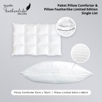 Paket 1 Pillow Comforter 1 Bantal Featherlike Limited Single List