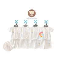 NARY Setelan Baju Bayi Kimono Pendek & Celana Pendek (WHITE SERIES)