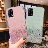 Oppo A74 4G 2021 Casing Soft Case Tpu Bahan Premium Glitter Glossy