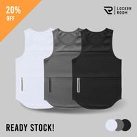 Baju Singlet Kaos Tank Top Sleeveless Polos Olahraga Gym Fitness Pria