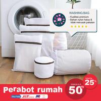 Laundry Bag Jaring Baju Kotor Kantong Mesin Cuci Bra Celana Dalam - 15 X 15 CM