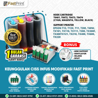 Fast Print Ciss Infus Modif Printer Epson TX400 TX600 TX300 Plus Tinta