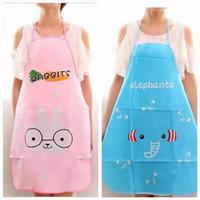 celemek masak dapur waterproof apron anti air karakter