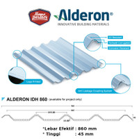 Atap Alderon IDH860 White/Blue Transparan