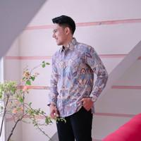 Kemeja Batik Pria Lengan Panjang Batu Raden Exclusive - Lavender, S