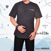 Baju Muslim Pria/ Kaos Modern/ Kurta/ Baju Koko/ Katun/ Kaos AMMAR