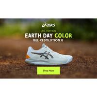 Sepatu Tennis Asics Gel Resolution 8 Cream / Puty Limited Ed Original