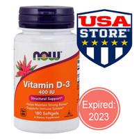 NOW FOODS VIT D-3 400 IU 180 SOFTGELS Food Vitamin D3 400IU
