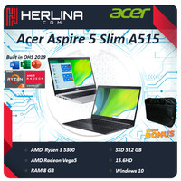 Acer Aspire 5 Slim A515 Ryzen 3 5300 8GB 512ssd Vega5 Win10+Office 15