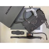 Balenciaga Classic City Metallic Edge Small Dark Grey