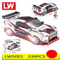 Mainan Edukasi Anak Legoo Brick Mobil Balap Sport Super Car LW 5001