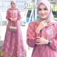 [REAL PIC] Gamis Brokat Tille Mutiara Dress Brokat Terbaru Gamis Selma