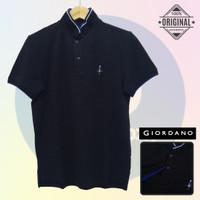 Size S-LD94 Giordano Original POLO SHIRT PRIA KAOS KERAH Hitam Cowo